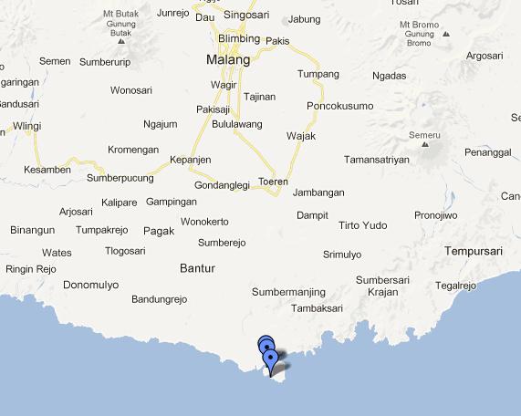 Lokasi Pulau Sempu