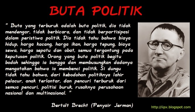 Buta Politik | © iipx.blogspot.com