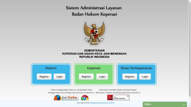 Sistem Informasi Badan Hukum Koperasi Online